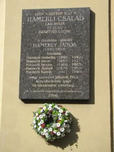 Hamerli emléktábla