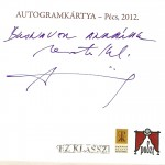 Alföldi Róbert autogramkártya