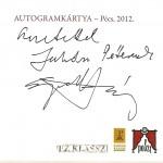 Eperjes Károly autogram kártya POSZT OFF