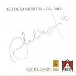 Halász Judit autogram kártyája