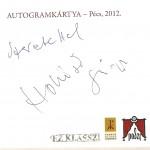 Hollósi Frigyes autogram kártyája