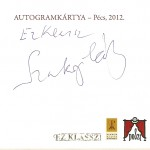 Szakonyi Károly autogram kártyája