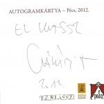 Csákányi Eszter, színész autogram kártya