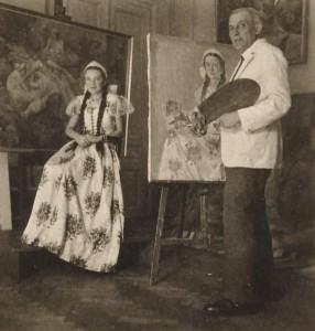 Gebauer Ernő és modellje