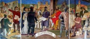 Nagy Lajos freskó